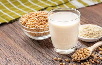 soy and a glass of soy milk